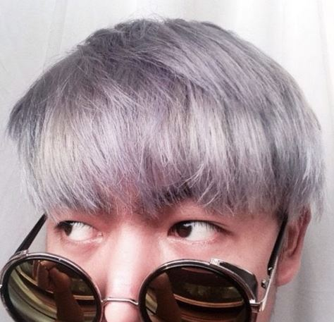 warna rambut dark gray
